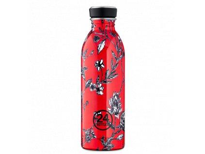 24Bottles nerezová láhev pro ženy Urban Bottle 500 ml Cherry Lace 1