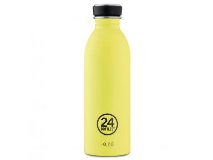 24Bottles žlutá nerezová láhev Urban Bottle 500 ml Citrus 1
