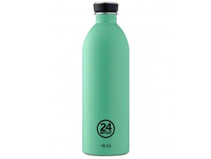 24Bottles litrová nerezová láhev Urban Bottle v mátové barvě 1