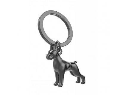 MTM přívěsek na klíče pes boxer černý mat 1