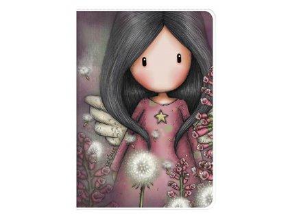 SANTORO LONDON osobní zápisník A6 Gorjuss Little Wings 1