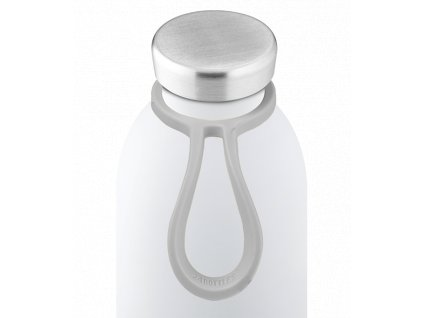 24Bottles silikonové poutko na láhev light grey 1