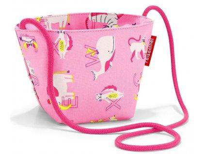 Reisenthel taška přes rameno pro malé slečny Minibag ABC FRIENDS PINK 1