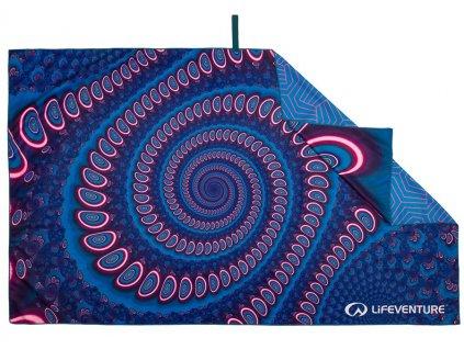 Lifeventure outdoorový rychleschnoucí ručník Printed SoftFibre Trek Towel andaman 1