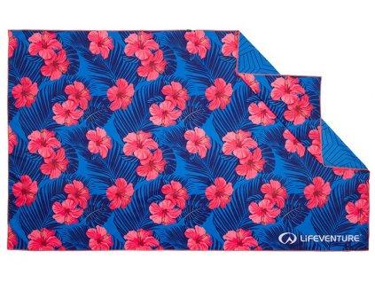 Lifeventure outdoorový rychleschnoucí ručník Printed SoftFibre Trek Towel oahu 1