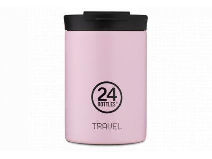 24Bottles nerezový termohrnekna kávu nebo čaj Travel Tumbler Candy Pink 350 ml 1