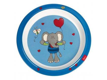 Sigikid melaminový talířek pro malé děti slon Lolo Lombardo 1
