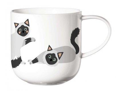 ASA Selection hrnek s uchem na čajs motivem kočky 1