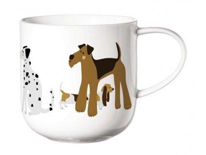 ASA Selection hrnek na čaj s uchem s motivem psů CATS&DOGS 5 1