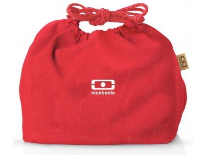Monbento červený sáček na svačinový box MB Pochette red Podium