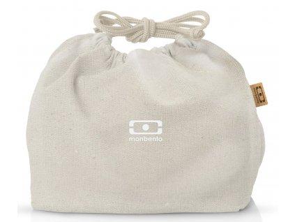 Monbento plátěný sáček na svačinový box MB Pochette Natural Cream 1