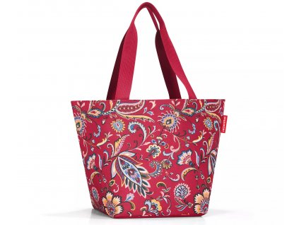 Reisenthel prostorná nákupní taška Shopper M paisley ruby 1