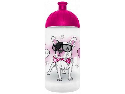 FreeWater plastová láhev pro holky Buldoček 1