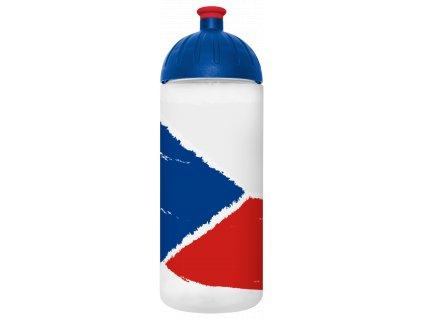 FreeWater plastová láhev na pití s motivem české vlajky 1