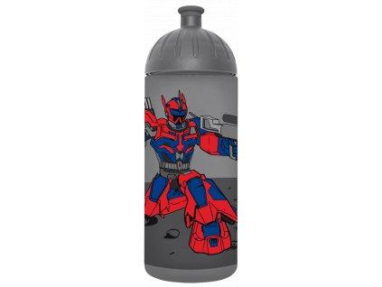 FreeWater plastová láhev pro děti 0,7l CZ Robot antracitová 1