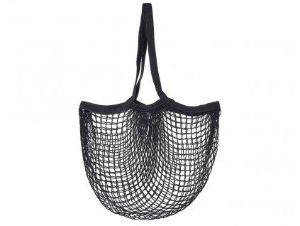 Sass & Belle praktická nákupní taška síťovka černá 1