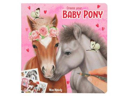 Miss Melody kreativní omalovánky pro holky Baby Pony 1