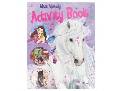Miss Melody kreativní omalovánky s obrázky koní Activity Book 1