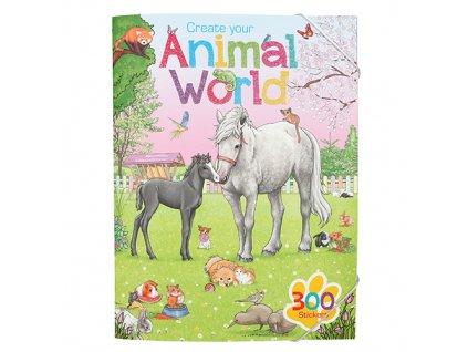 Create your kreativní sešit pro děti se samolepkami Svět zvířat 1