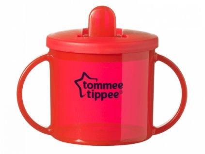 Tommee Tippee hrneček dvouuchý pro nejmenší děti Basic červený 1