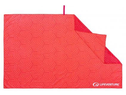 Lifeventure rychleschnoucí outdoorový ručník v korálové barvě 1