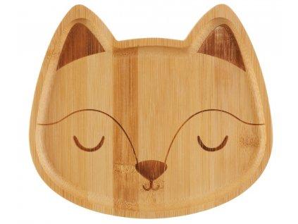 Bambusový talířek pro malé děti s motivem lišky 1