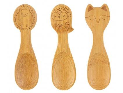 Sass & Belle set bambusových lžiček pro malé děti Woodland 1