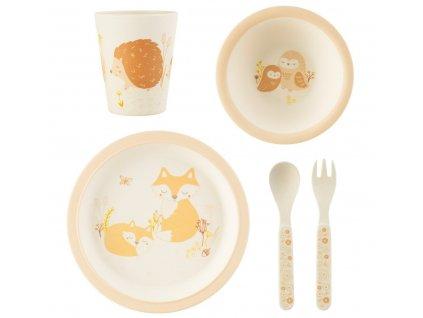 Sass & Belle dětský jídelní set se zvířátky 1