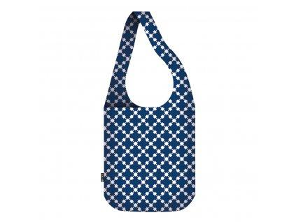ECOZZ skládací nákupní taška Crossbodybag Blue Squares 1