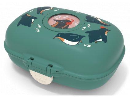 Monbento dětský box na svačinu MB Gram green Penguin 1