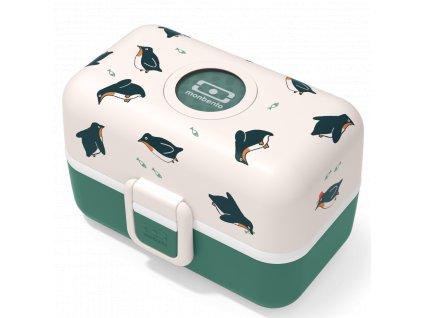 Monbento dětský box na svačinu MB Tresor green Penguin 1