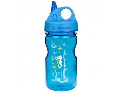 NALGENE - dětská láhev Grip'n Gulp 375 ml Blue Seahorse
