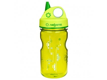 NALGENE dětská láhev Grip'n Gulp 350 ml Green Cars 1