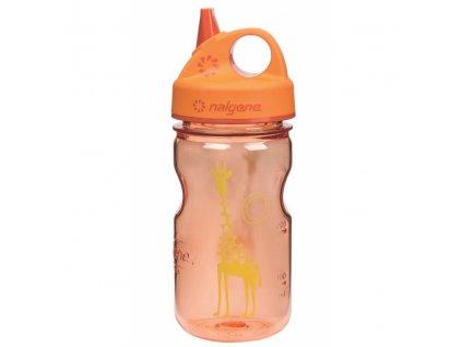 NALGENE dětská láhev Grip'n Gulp 350 ml Orange Giraffe 1