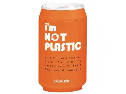 I'M NOT PLASTIC - ekologický termohrnek 280 ml oranžový
