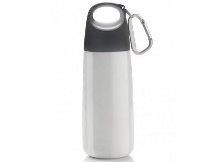 XDDESIGN - nerezová láhev s karabinou Bopp Mini 350 ml bílá