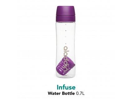 Aladdin - láhev s infuzerém 700 ml fialová
