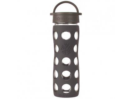 Lifefactory - skleněná láhev s klasickým uzávěrem 475ml carbon