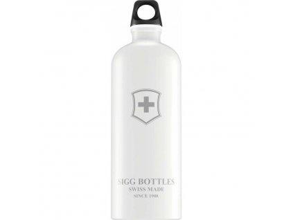 Lahev SIGG Swiss Emblem White 1000 ml