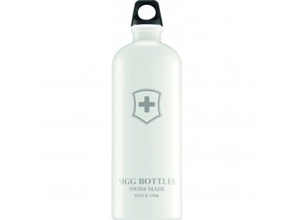 Lahev SIGG Swiss Emblem White Touch 1000 ml bílá