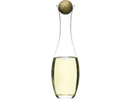 Sagaform - karafa na bílé víno Oval Oak 1000 ml