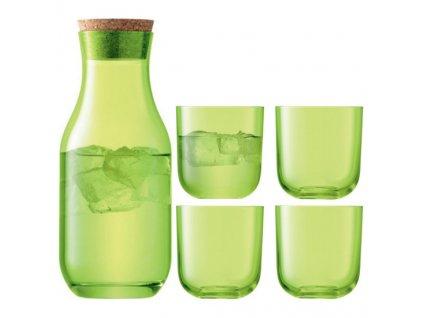 LSA - set CENTRO karafa a sklenice 4 ks, limetková