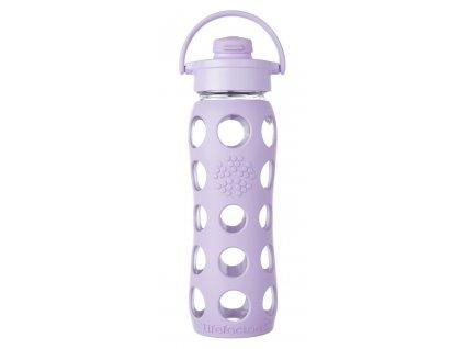 Lifefactory skleněná lahev s flip uzávěrem 650ml lila