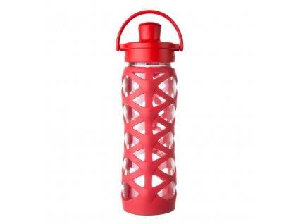 Lifefactory skleněná lahev ACTIV uzávěr 650 ml Charged Red