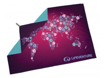 Lifeventure ručník Printed SoftFibre Trek Towels FLOWERS