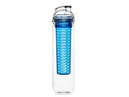 SAGAFORM láhev s infuzérem Fresh 800 ml modrá