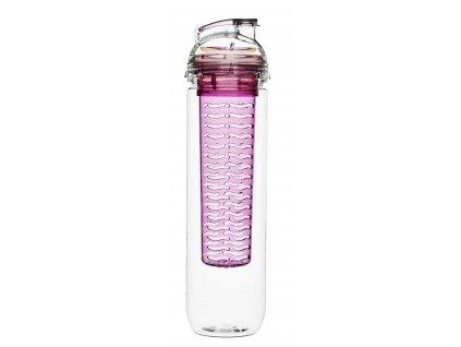 SAGAFORM láhev s infuzérem Fresh 800 ml růžová