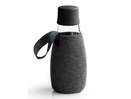 Retap obal na láhev 0,3l černý úplet