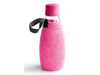 Retap obal na láhev 0,5l růžový úplet