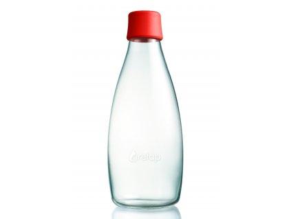 Retap skleněná láhev 0,8l červená